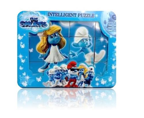 puzzle inteligencia niños pitufos didacticos 6x1 entrega ya!