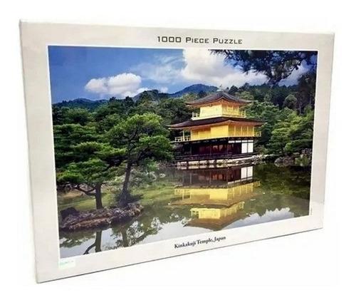 puzzle kinkakuji temple japan  1000 pz jigsaw tomax 100-208