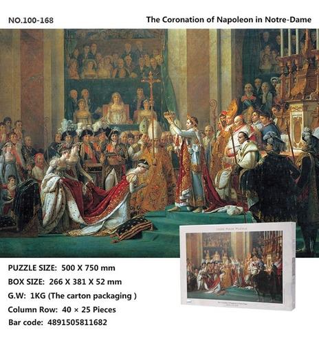 puzzle la coronación de napoleon - 1000 pz tomax jigsaw