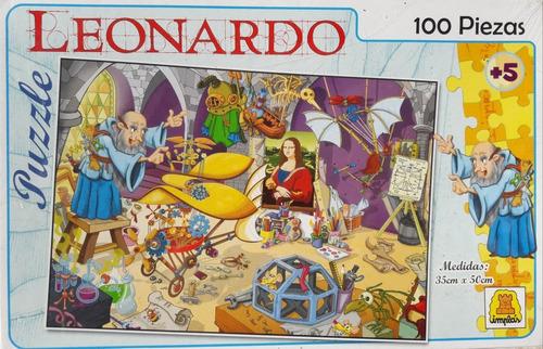 puzzle leonardo 100 pz implas 059