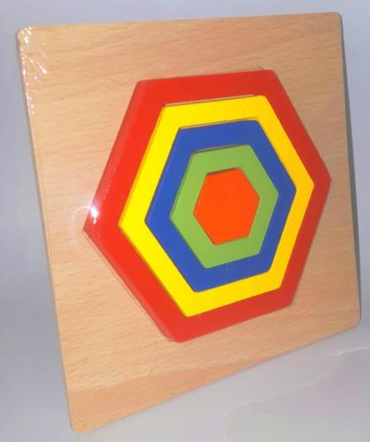 puzzle madera encastre 14x14cm col 19899 figuras geometricas