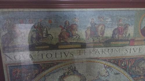 puzzle mapa mundi 1665 enmarcado 3000 piezas