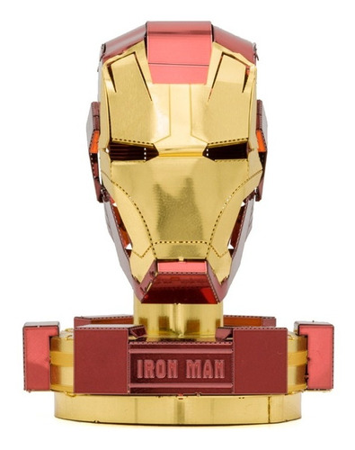 puzzle maqueta 3d metálica piecefun casco de iron man color