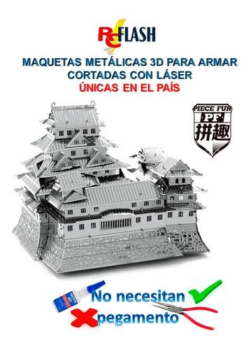 puzzle maqueta 3d metálica piecefun casco de iron man color