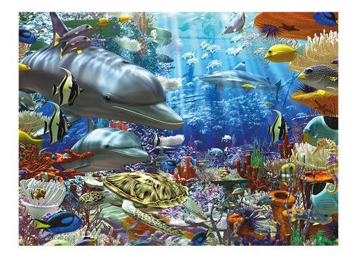 puzzle mini 500 peças vida marinha grow