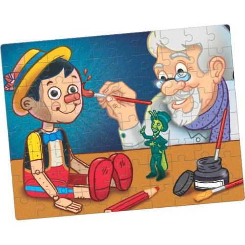 puzzle quebra cabeça pinóquio 80 peças toia