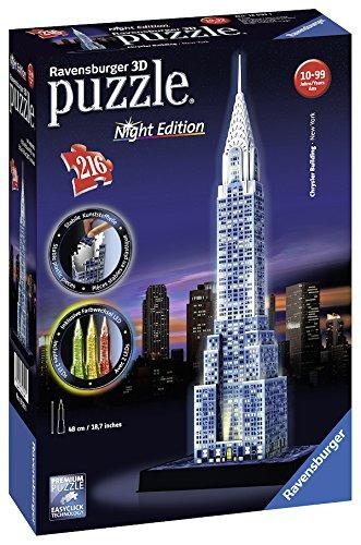 puzzle ravensburger chrysler building noche edición 3d (216