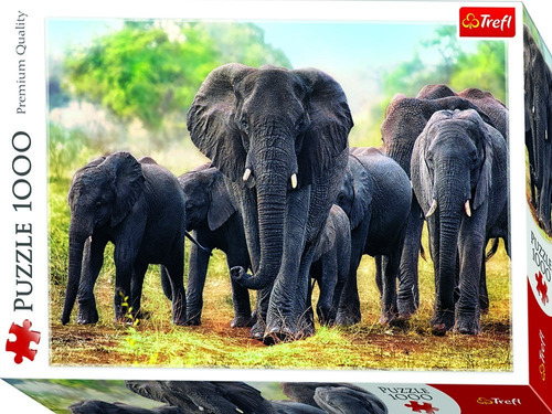 puzzle rompecabezas 1000 pzas elefantes africanos 10442 edu
