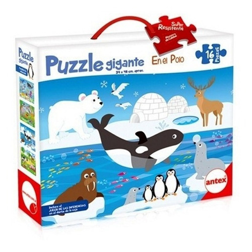 puzzle rompecabezas 16 pz 34x48cm en el polo antex 3032