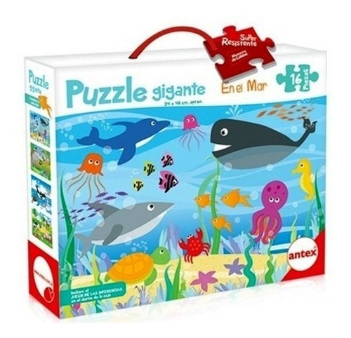 puzzle rompecabezas 16 pz 48x34cm en el mar antex 3032