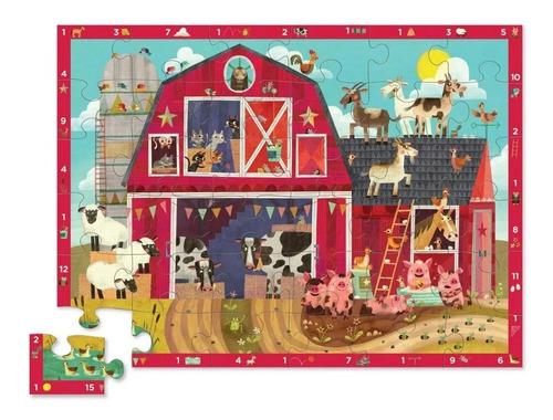 puzzle rompecabezas 36 piezas granja 123 crocodile edu full