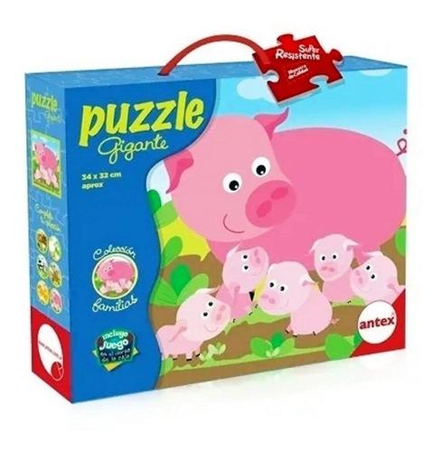 puzzle rompecabezas 9 pz colecc familias chanchos antex 3027