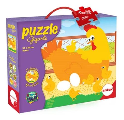 puzzle rompecabezas 9 pz colecc familias gallinas antex 3027