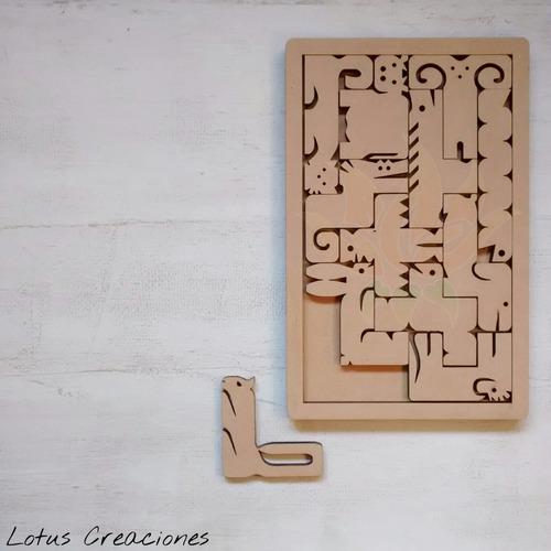 puzzle rompecabezas zoo -corte láser-