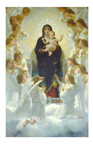 puzzle the virgin with angels - 1000 piezas tomax 100-216