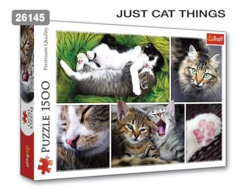 puzzle trefl x 1500 just cat things collage