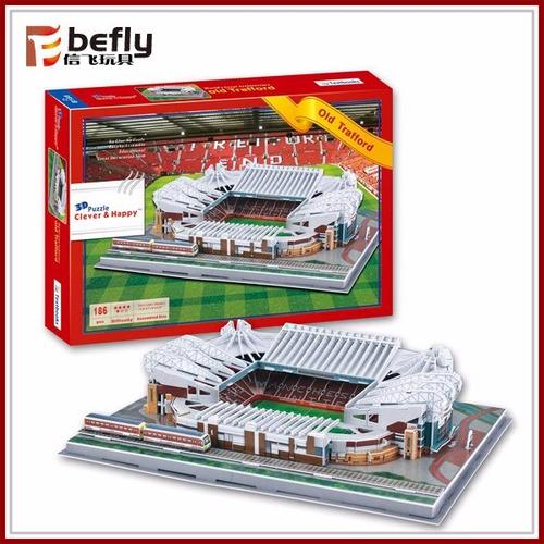 puzzles 3d para armar. maquetas de estadios de futbol