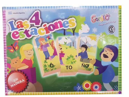 puzzles de madera 4 estaciones silabas gordillo