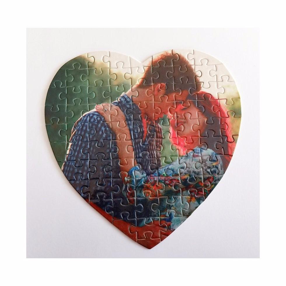 Puzzles Rompecabezas Personalizados Forma Corazón 5000 En