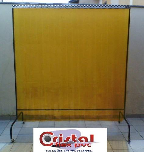 pvc amarelo anti inseto para cortinas em tiras metro linear