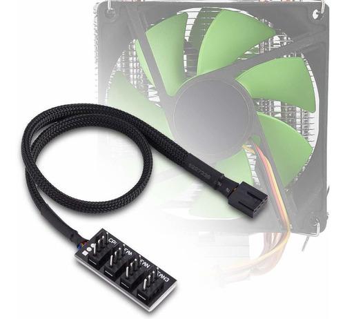 pwm fan hub, adaptador de cable de conector de divisor ...