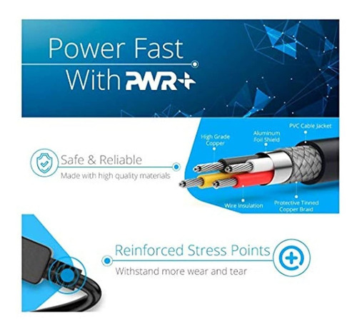 pwr 3ft 2 prong polarized-power-cord para bose-companion 3