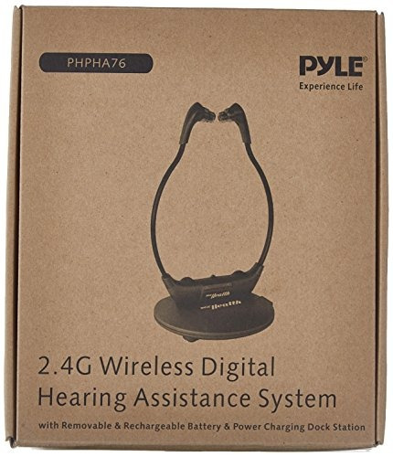 pyle 2.4ghz inalámbrico digital de auriculares con auricula