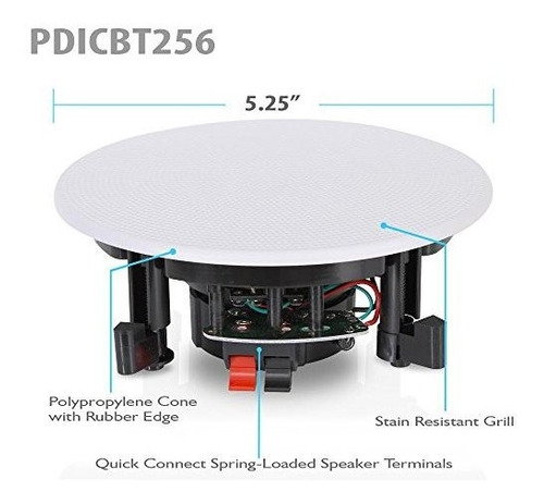 pyle 525 4 montaje empotrado bluetooth inwall 2 vias sistema