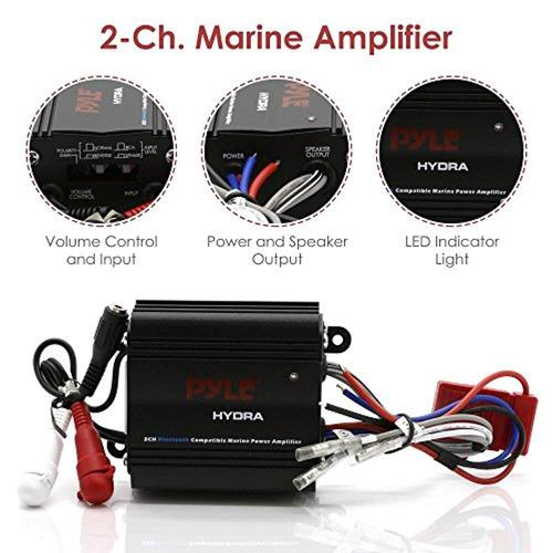 pyle amplificador marino bridgeble auto de