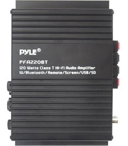 pyle-audio/video pfa220bt bt amp mini azul serie coche 120w