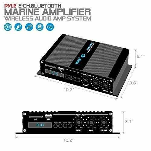 pyle home marine amplificador de automóvil - 2 canales bri
