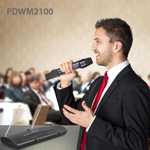pyle microfono inalambrico pdwm2100 microfono karaoke vhf