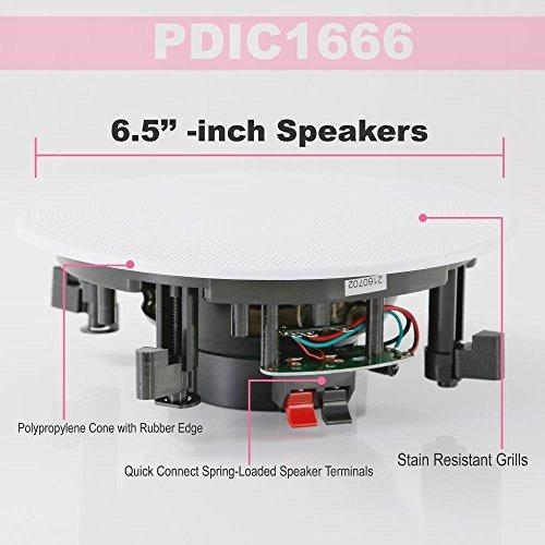 pyle pair 65 montaje empotrado inwall 2 vias sistema de alta