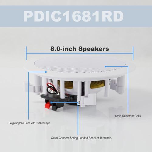 pyle pair flush 8 -inchmontaje en la pared sistema de altavo