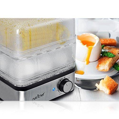 pyle pkec12 - rápida para cocer huevos y vegetales vapor - a