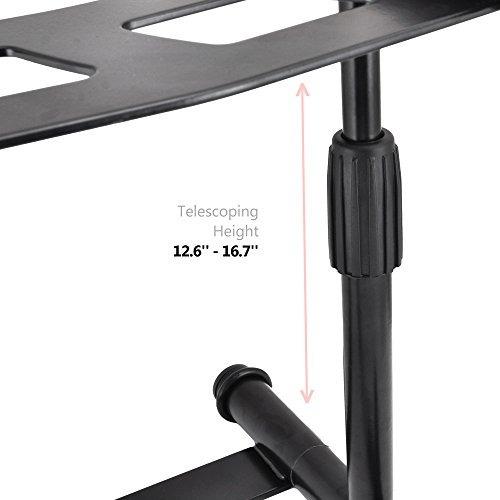 pyle plpts55 - portátil, plegable tabletop dj gear stand par