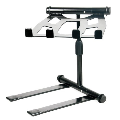 pyle plpts55 - portátil, plegable tabletop dj gear stand par