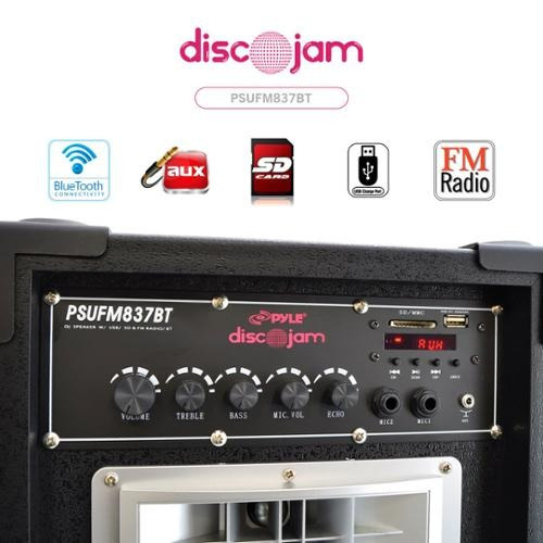 pyle psufm837bt 800w doble disco jam powered sistema de