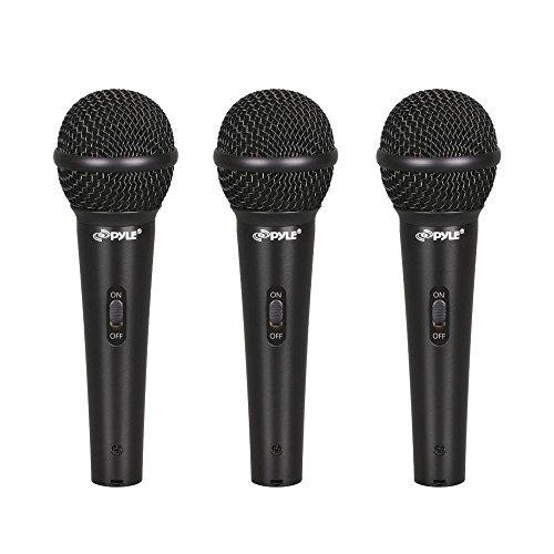 pylepro pdmickt80 juego de 3 vocales cardioides micrófonos