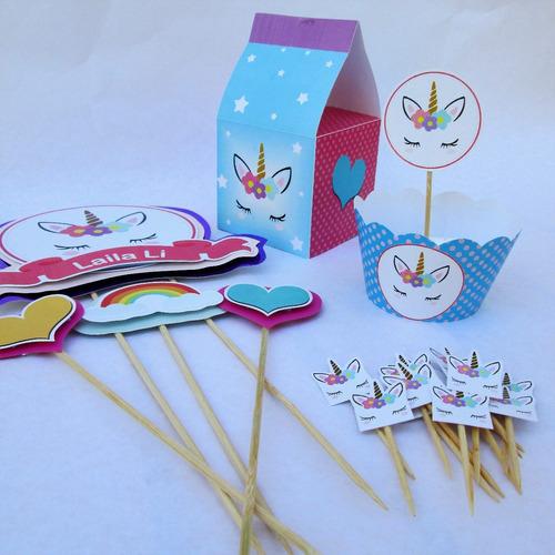 pylod kit fiesta personalizado caketopper caja wrapper