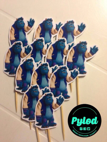 pylod toppers postres monster university james (docena)