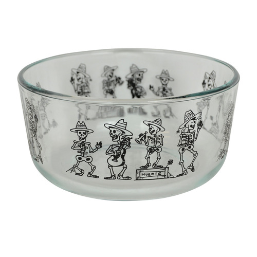 pyrex  1  7201 4-cup day of the dead skeletons