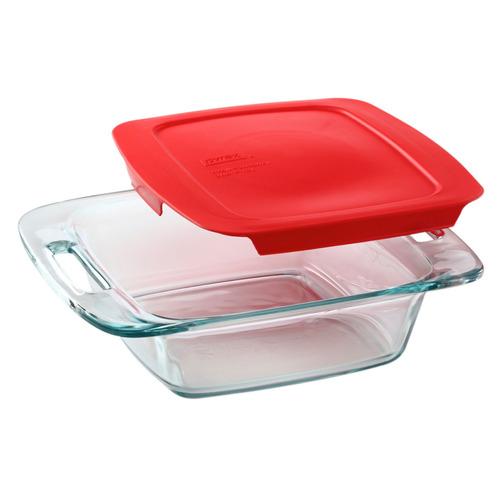 pyrex easy grab 8 2 quart plato de hornear cuadrado