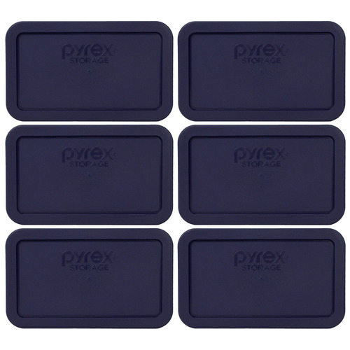 pyrex tapa de reemplazo 7214-pc azul rectángulo