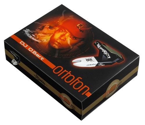 q-bert om single ortofon dj aguja tornamesa - audiotecna