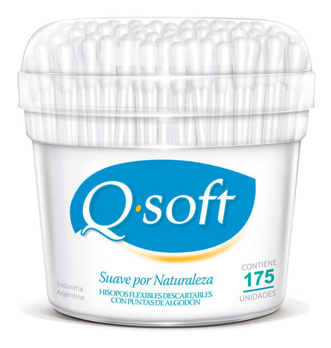 q soft hisopos flexibles descartables x 175 unidades