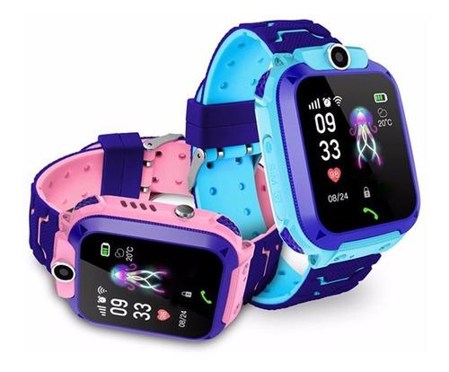 q12 crianças gen 5 telefones relógio inteligente rosa/m