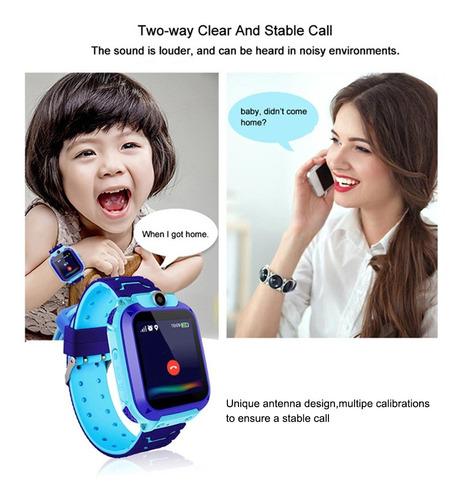 q12 kids intelligent watch ip67 pantalla táctil táctil sos.
