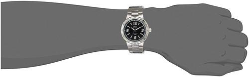 q724-215y - reloj q&q p/m acero hombre