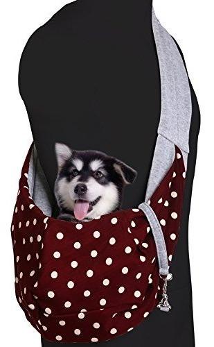 qbleev perro gato sling bolsa de transporte bolso reversi